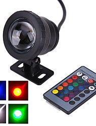 cheap -AC/DC 12V IP65 Waterproof RGB 10W Underwater Lamp / Colorful Remote Control Outdoor Waterproof  Underwater Colorful Lights