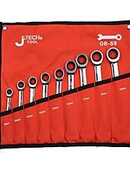 JTech 9 piece ratcher combination wrench kit GR-S9/1 set