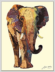 cheap -Oil Paintings Animal Style Canvas Material With Wooden Stretcher Ready To Hang Size60*90CM .