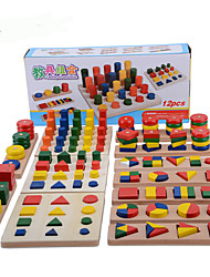 cheap -Montessori Teaching Tool Pegged Puzzle Math Toy Education Cool Girls' Boys' Gift