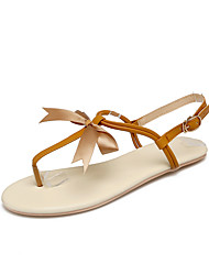 Women's Sandals Gladiator Comfort Leatherette Summer Casual Dress Gladiator Comfort Flower Flat Heel Brown Beige Gold Flat