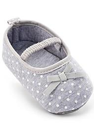 abordables -Niños Bebé Zapatos de taco bajo y Slip-Ons Primeros Pasos Tejido Verano Otoño Casual Vestido Fiesta y Noche Primeros PasosPajarita
