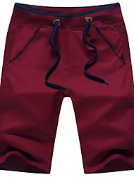 Da uomo A vita medio-alta Moda città Attivo Media elasticità Chino Pantaloni della tuta Pantaloni,Dritto Tinta unita A pois Tinta unita