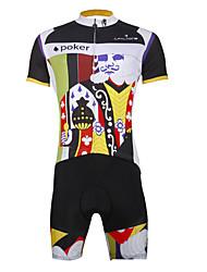 economico -ILPALADINO Per uomo Manica corta Maglia con pantaloncini da ciclismo Teschi Bicicletta Set di vestiti, Asciugatura rapida, Resistente ai