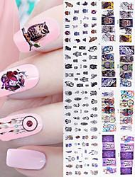 1 Big Sheet Owl Dream Catcher Nail Water Decal 12 Patterns Mix Manicure Nail Art Transfer Sticke
