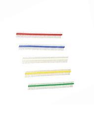 abordables -plaqué or 40p 2,54 mâle et femelle couleur tête de broche de ligne unique pour arduino uno r3 (20pcs)