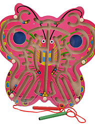 cheap -Board Game Magnetic Maze Toys Butterfly Wood Pieces Children's Gift