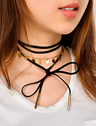 cheap -Women's Choker Necklace Chain Necklace Jewelry Copper Alloy Bowknot Personalized Tassel Euramerican Fashion Party Special Occasion