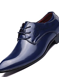 Men's Shoes Real Leather All Seasons Comfort Oxfords For Casual Black Navy Blue Burgundy