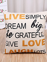 1 Pcs Live Simply Quotes & Sayings Printing Pillow Cover Fashion Cushion Cover Pillow Case