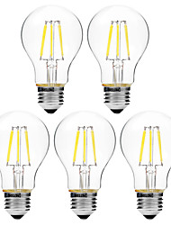 cheap -BRELONG® 5pcs 6W 450 lm E27 LED Filament Bulbs A60(A19) 6 leds COB Dimmable Warm White White AC 200-240V