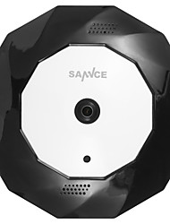 Sannce® 360 wirless panoramico 960p fisheye ip camera wifi 1.3mp video visione notturna microfono e altoparlante incorporato