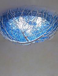 Stile Tiffany Montaggio del flusso Per Salotto Camera da letto Stanza per ragazze AC 220-240V Lampadine incluse