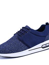 Men's Sneakers Comfort Linen All Seasons Athletic Casual Outdoor Comfort Lace-up Flat Heel Black Beige Blue Flat