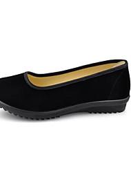 Недорогие -Жен. Обувь Ткань Весна Лето Удобная обувь На плокой подошве На плоской подошве Круглый носок для Повседневные Офис и карьера Черный