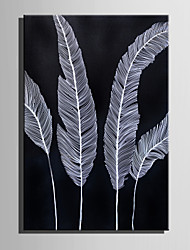 cheap -Hand-Painted Floral/Botanical Vertical, Other Retro Canvas Oil Painting Home Decoration One Panel