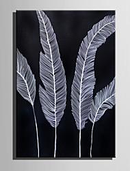 Недорогие -Ручная роспись Цветочные мотивы/ботанический Вертикальная, Ретро холст Hang-роспись маслом Украшение дома 1 панель