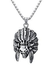 Недорогие -Муж. Геометрической формы На заказ Мода Панк Хип-хоп Рок Euramerican Массивные украшения Ожерелья с подвесками Заявление ожерелья