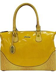 Women Bags All Seasons PVC Shoulder Bag for Casual Yellow