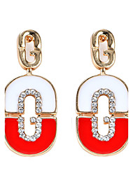 Women's Drop Earrings Bohemian Initial Jewelry Arylic Alloy Heart Cut Jewelry For Party Daily Casual Stage 1 pair