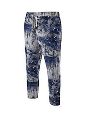 Men's Mid Rise Micro-elastic Skinny Active Slim Sweatpants Pants,Boho Active Skinny Print