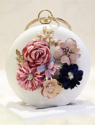 cheap -Women's Bags PU Shoulder Bag Flower White / Pale Pink
