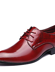 cheap -Men's Shoes Leather Spring Summer Fall Winter Bullock shoes Formal Shoes Fashion Boots Oxfords Walking Shoes Split Joint For Wedding