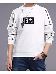 cheap -Boys' Solid Color Tee, Cotton Spring/Fall Long Sleeves White Black