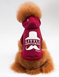 preiswerte -Katze Hund Mäntel T-shirt Kapuzenshirts Hundekleidung Lässig/Alltäglich Sport Buchstabe & Nummer Grau Rot