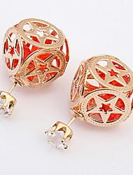 Dámské Peckové náušnice Visací náušnice Náušnice - Kruhy imitace Diamond Základní design Jedinečný design Logo přátelství Rock Klasický