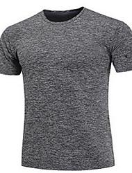baratos -Homens Camiseta de Corrida - Preto, Cinzento, Azul Marinho Esportes Camisa / Blusas Exercício e Atividade Física, Corrida Manga Curta