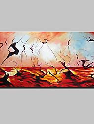abordables -Peinture à l'huile Hang-peint Peint à la main - Abstrait Moderne Style européen Inclure cadre intérieur / Toile tendue