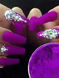 1box Chique & Moderno Nail Glitter Glamour Uva Nail Art Design 0.001kg/caixa Unha Arte Decoração