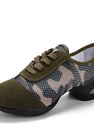 Non personalizzabile Da donna Sneakers da danza moderna Sintetico Sneakers All'aperto Basso Verde militare 2,5 - 4,5 cm
