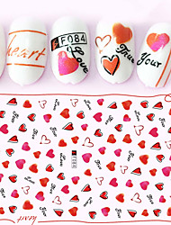 cheap -1pcs Hot Fashion Sweet Style Beautiful Heart Shape Design Nail Art 3D Stickers Romantic Lady Nail Art DIY Beauty Decoration F084