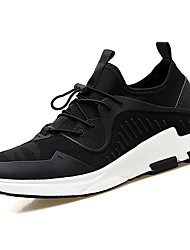 cheap -Men's Athletic Shoes Comfort Couple Shoes PU Tulle Spring Fall Outdoor Casual Flat HeelRoyal Blue Black/White Rose Pink Gray Dark