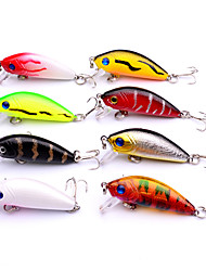 cheap -8 pcs Fishing Accessories Lure Packs Crank Hard Bait Plastic Easy to Use Sea Fishing Bait Casting Spinning Freshwater Fishing Lure