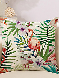 cheap -1 pcs Cotton/Linen Pillow Case Pillow Cover, Printing Animal Novelty Vintage Casual Tropical European Neoclassical Traditional/Classic