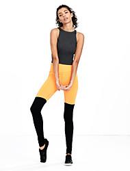 preiswerte -Damen Mittel Polyester Einfarbig Kreuz - gespleißt Legging, Schwarz Orange Fuchsia Grün