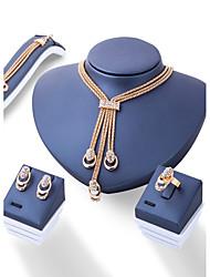 Недорогие -Жен. Комплект ювелирных изделий - Мода, Euramerican Включают Золотой Назначение Свадьба