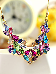 cheap -Women's Others Unique Design Fashion Euramerican Statement Necklace Jewelry Crystal Alloy Statement Necklace , Party Other Evening Party