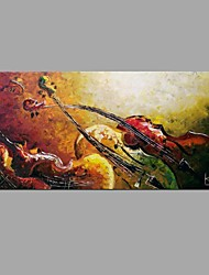 cheap -Handmade Oil Painting Abstract Musical Instruments Wall Art Home Decor Stretched Framed Ready To Hang SIZE50*100cm