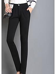 Sign Spring OL commuter Slim black pantyhose women pants suit pants straight jeans trousers feet