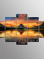 cheap -Stretched Canvas Print Five Panels Horizontal Print Wall Decor Home Decoration