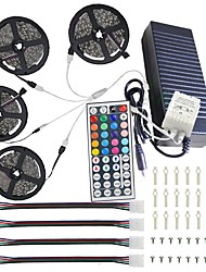 cheap -20M(4*5M) 5050 RGB 600 LEDs Strip Lights 44Key IR Remote Controller Kit 12V 10A  Power Supply