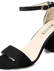 economico -Da donna Sandali Cashmere Estate Footing Più materiali Basso Nero Grigio 7,5 - 9,5 cm