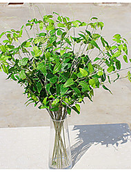 cheap -Striped Willow Leaves Artificial Bouquet for Home Decor and Wedding Decorations Flower Arrangement