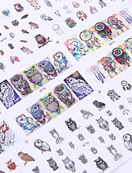 cheap -1 Big Sheet Owl Dream Catcher Nail Water Decal 12 Patterns Mix Manicure Nail Art Transfer Sticke