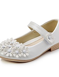 Girls' Sandals Casual Summer Fall Party Casual Walking Flower Flat Heel Blushing Pink Pool White Under 1in