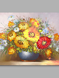 cheap -Hand-Painted Classical Beautiful ExuberantFlowers Modern One Panel Canvas Oil Painting For Home Decoration